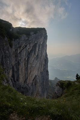 Der Berchtesgadener Hochtrohn mit seiner imposanten Steilwand.
