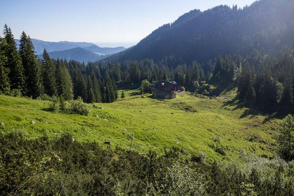 Ein Blick zurück zur Tutzinger Hütte