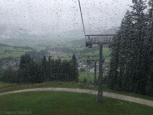 Aber der Regen ist einfach zu stark!