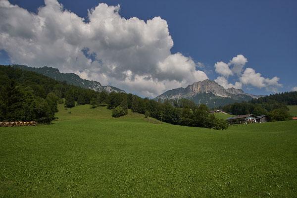Blick zurück zum Berchtesgadener Hochtrohn und zum Stöhrhaus.