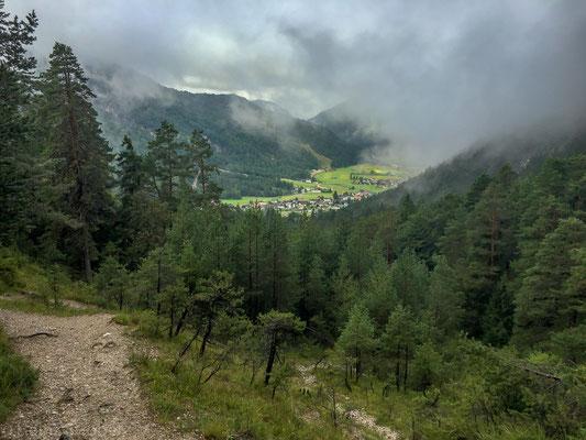 Rückblick nach Scharnitz