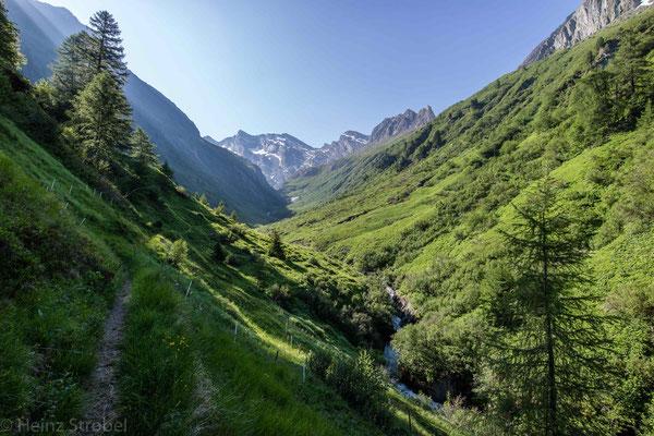 Hinten im Tal entspringt aus einem Gletscher der Gliederbach.