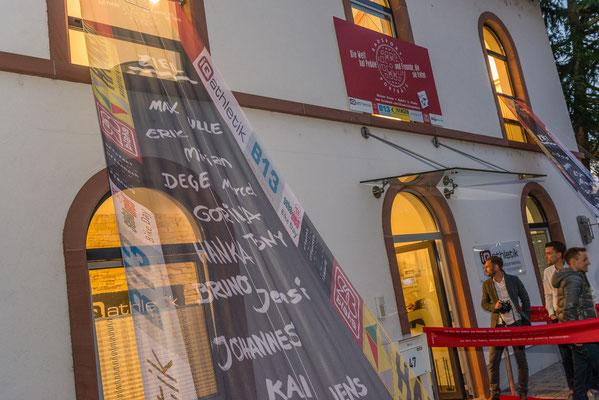 Beeindruckender Empfang für die Radsportfreunde im Alten Bahnhof Rödelheim bei iQ athletik