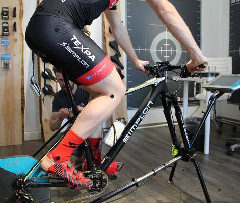 Dynamische Vermessung und Analyse der Tretbewegung auf dem Fahrrad beim Bikefitting