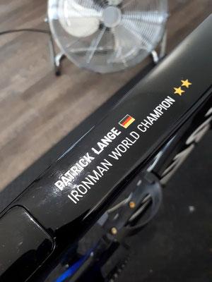 Ready to rumble: das Rennrad von Patrick Lange ist bereit für die Leistungsdiagnostik