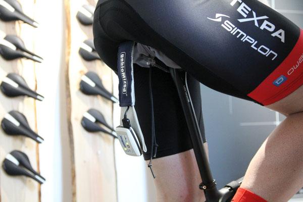 Analyse des wichtigsten Kontaktpunkt zwischen Fahrer und Fahrrad: der Sattel