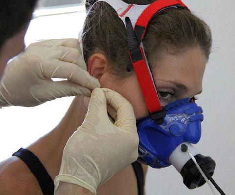 Laktattest mit Spiroergometrie auf dem Laufband