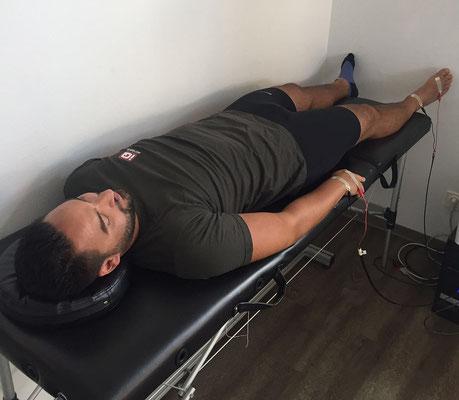 Neben der Ausdauerleistungsfähigkeit wurde vor Trainingsbeginn durch eine Bioelektrische Impedanzanalyse (BIA) auch der Zell- und Ernährungszustand untersucht