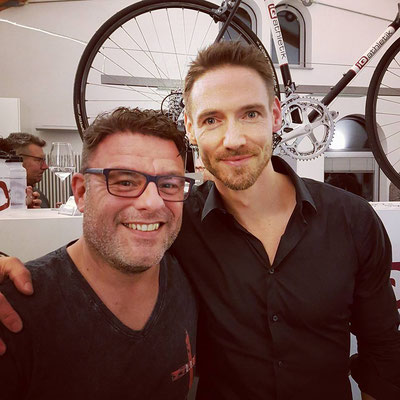 """""""Magic"""" Mike Mock von Trendlabel And More und Andreas Wagner, Mitbegründer und Geschäftsführer von iQ athletik"""