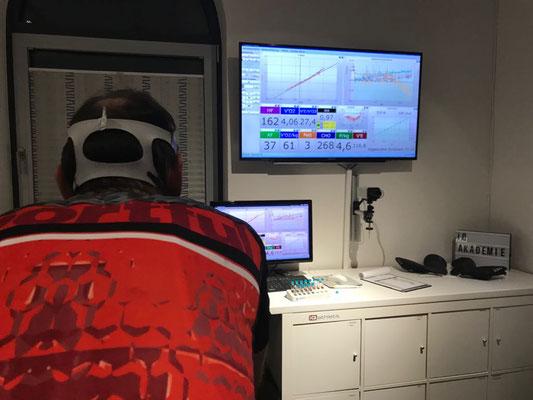 Mit der Spiroergometrie werden alle zentralen Belastungsparameter analysiert: Kreislauf, Atmung, Stoffwechsel.