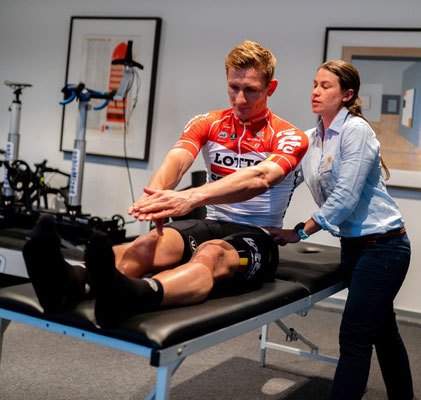 Der Radrennradfahrer und Weltklassesprinter André Greipel auf der #ISCO2018 - Fitting ist weit mehr als nur das Einstellen des Fahrrades
