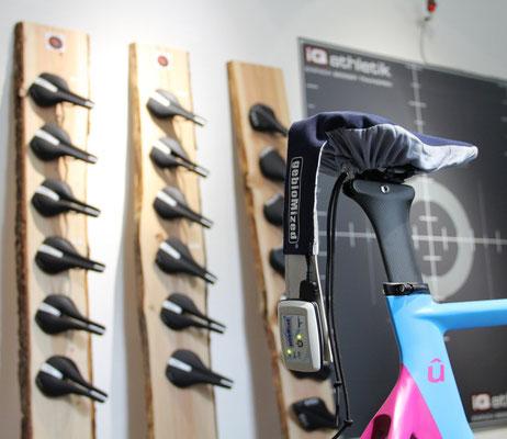 Analyse der wichtigsten Kontaktstelle zwischen Fahrerin und Fahrrad: der Sattel