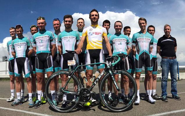 Hanno Rieping, der GCC-Kapitän des erfolgreichen Team Strassackers, kämpft in dieser Saison um das Gelbe Trikot des Gesamtführenden beim German Cycling Cup (Foto: Team Strassacker)