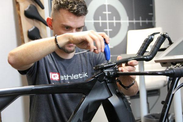 Das Einstellen der Grundposition im Bikefitting-Labor ist das A und O für eine Aero-Optimierung