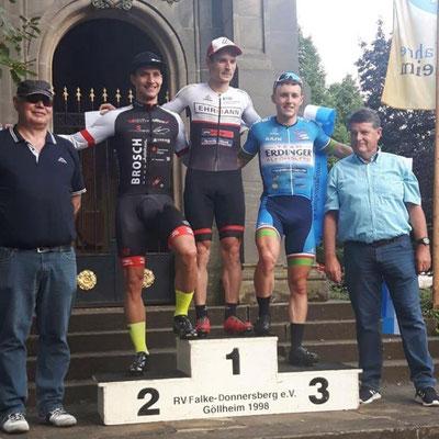 Jushua Asel vom Cycling Team Erdinger Alkoholfrei wurde starker Dritter beim Kriterium in Göllheim (Foto: Repost Cycling Team Erdinger Alkoholfrei / facebook)