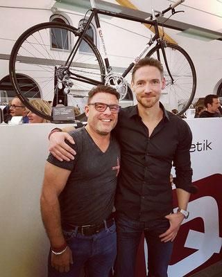 """""""Magic"""" Mike Mock von Trendlabel And More und Andreas Wagner , Mitbegründer und Geschäftsführer von iQ athletik"""