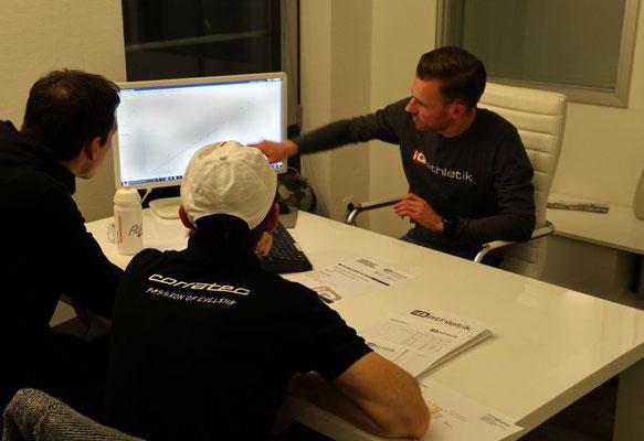 Zum Auswerten einer Leistungsdiagnostik braucht es viel Erfahrung und Spezialwissen, welches der Sportwissenschaftler Sebastian Mühlenhoff aus dem Durchführen von tausenden Diagnostiken mitbringt.