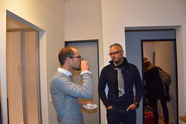 Kaffee-Liebhaber und Top-Triathlet Patrick Lange und der Sportwissenschaftler Martin Constantin
