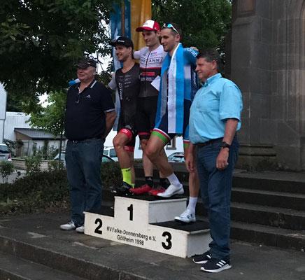 Dominik Merseburg vom Cycling Team Erdinger Alkoholfrei wurde starker Dritter beim Ausscheidungsfahren in Göllheim (Foto: Repost Cycling Team Erdinger Alkoholfrei / facebook)