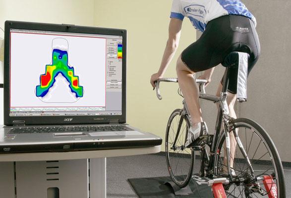 Bikefitting mit Satteldruckmessung vor Ort im Verein