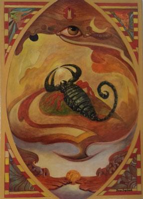 """Sternzeichen """"Skorpion"""" - Grösse ca. 70x50 cm"""