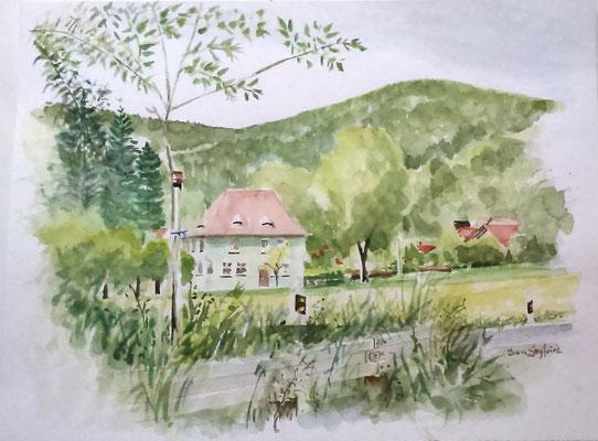 Altes Schulhaus Tiefenellern - Grösse ca. 36x48 cm