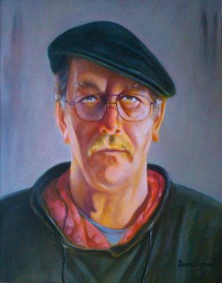 Öl auf Leinwand - Selbstporträt - Grösse ca. 60x50 cm
