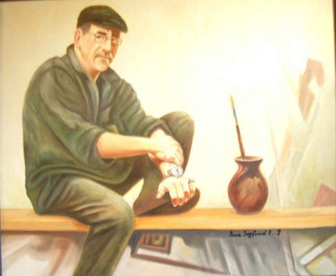 Öl auf Leinwand - Selbstporträt - Grösse ca. 50x70 cm