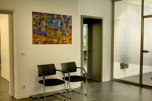 Saalepraxis Wartebereich, Aluminium, 120 cm x 80 cm