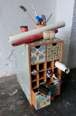 (c) Atelier FARBKNALL, Steffi Ribbe, Potsdam, Möbelkunst, eigene und Auftragsarbeiten