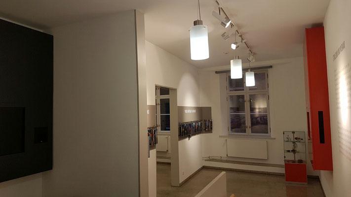 Beleuchtung Kabinett 2+3 - Welterbe Ausstellung - Stralsund