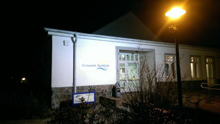 Werbungsbeleuchtung - Restaurant Sundblick Stralsund