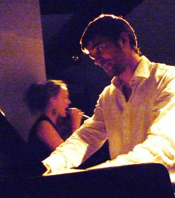 Duo avec la chanteuse Julia Boman, Strasbourg, 2011