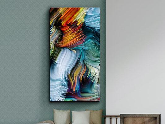 Fotografía impresa, montada en cristal templado. 150x80 cm