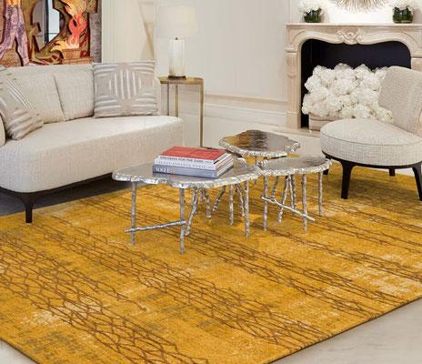 alfombra dorada