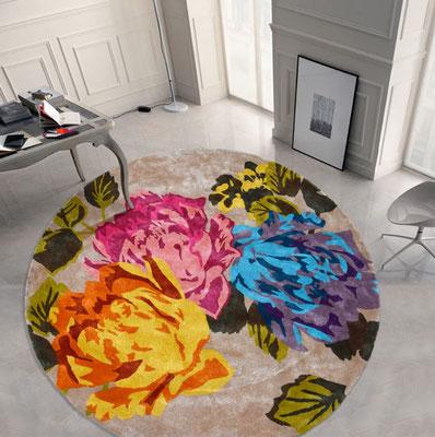 alfombra redonda grande