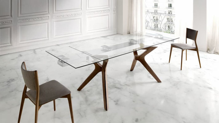 mesa cristal extensible 124