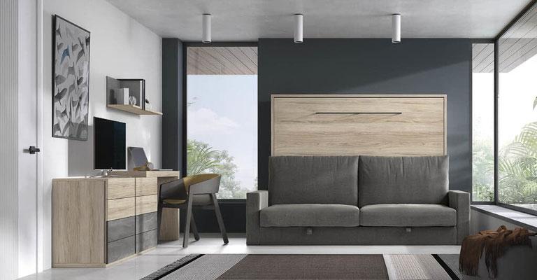 sofa cama plegable pared 3
