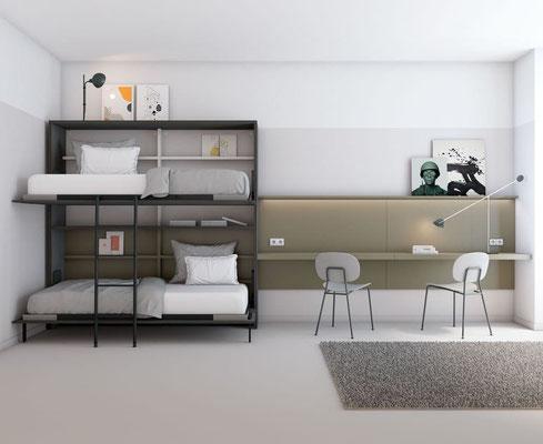 camas abatibles juveniles para espacios reducidos 28N