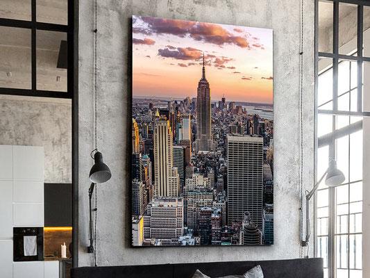 Fotografía impresa, montada en cristal templado. 100x150 cm