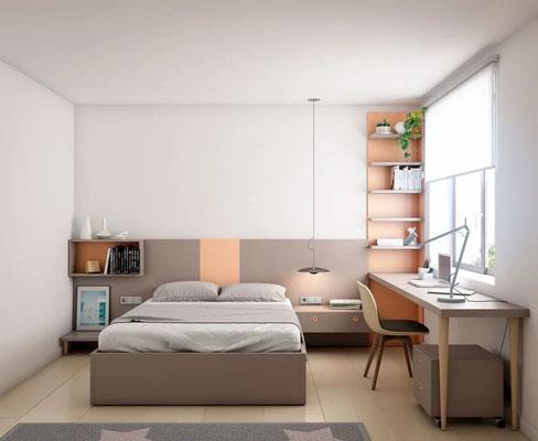 habitaciones juveniles cama grande 28N