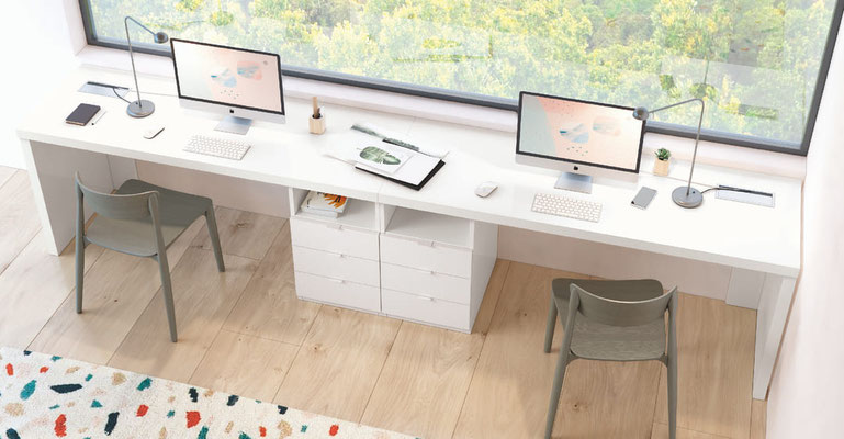 mesa escritorio con cajonera, mesas ordenador 64