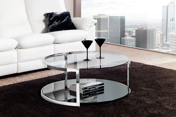 mesa de centro cristal 10