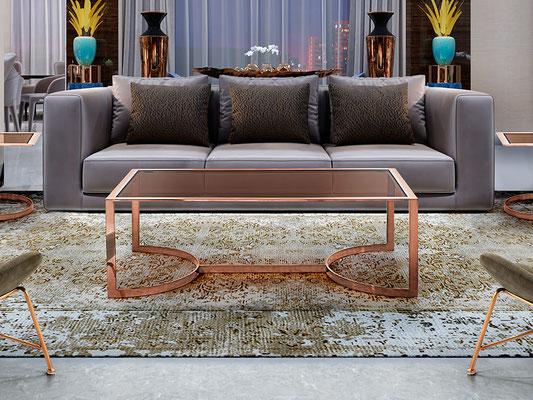 mesa centro madera y hierro 43
