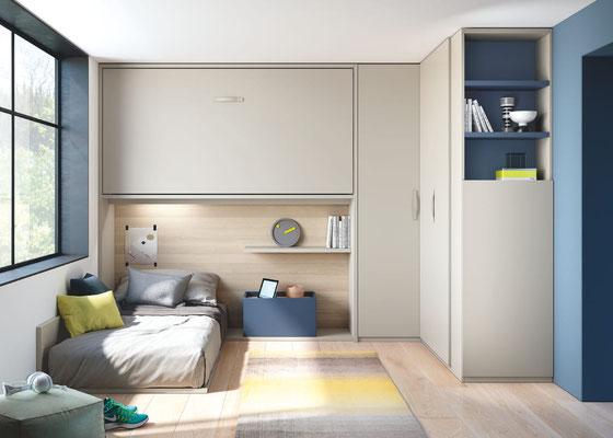 habitación juvenil cama abatible 64N