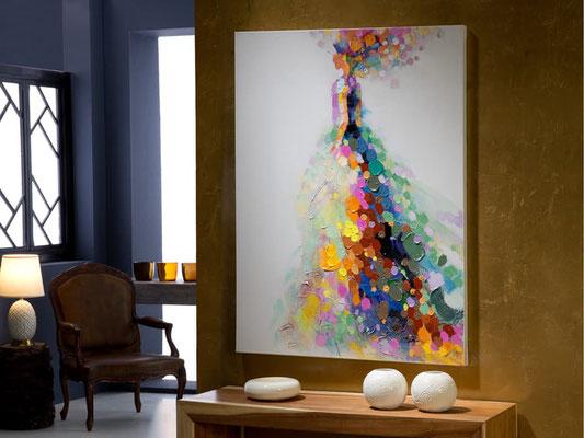 Geisha Fotografía impresa, montada en cristal templado barcelona