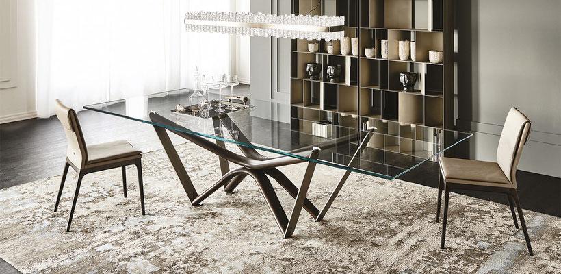 mesa comedor cristal 66