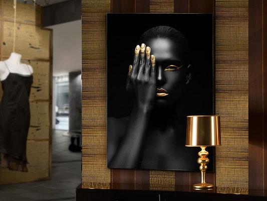 Fotografía impresa, montada en cristal templado. 80x120 cm