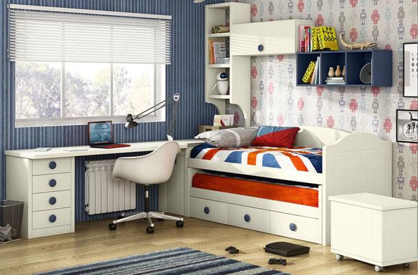 habitaciones juveniles blancas 72