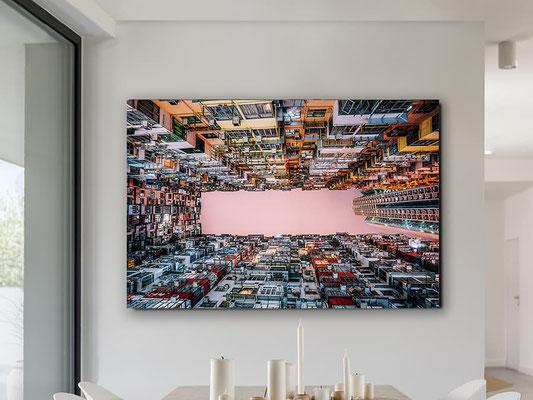 Fotografía impresa, montada en cristal templado. 150x100 cm